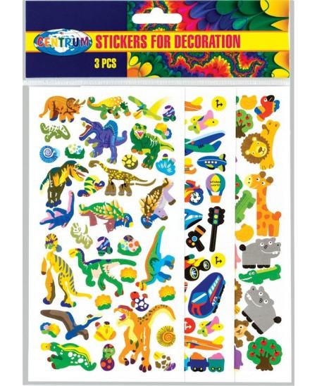 Dekoratyviniai lipdukai CENTRUM, dinozaurai, 190x100 mm.