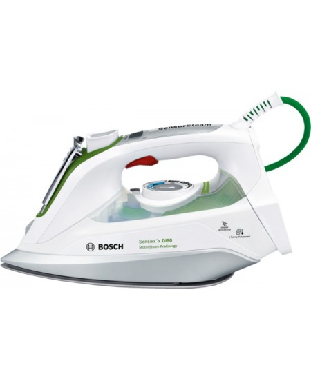 Bosch TDI902431E White, 2400 W, Vertical steam function, Water tank capacity 0.400 L