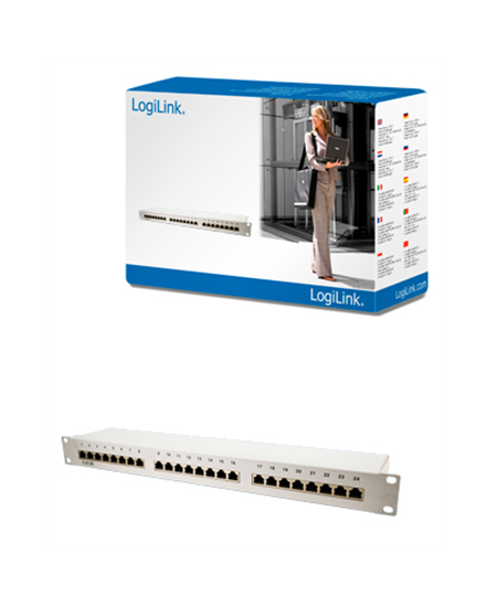 "Logilink High-quality metal patch panelInstallation in all 19 ""rack unitsStandard: conform with standard CAT 5e, ROHSPorts:"