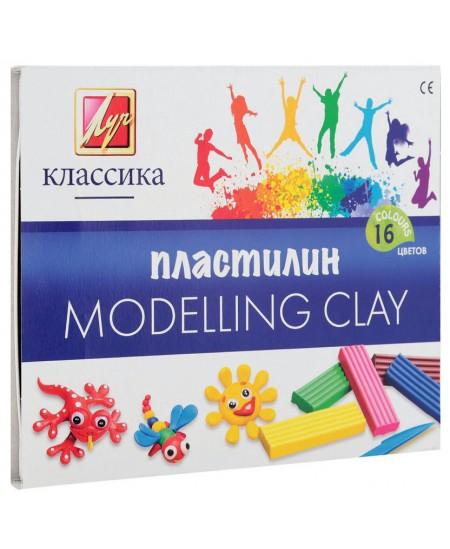 Plastilinas LUČ Klasika, 16 spalvų