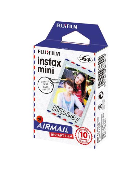 Fujifilm Instax Mini Airmail Instant Film Quantity 10, 86 x 54 mm