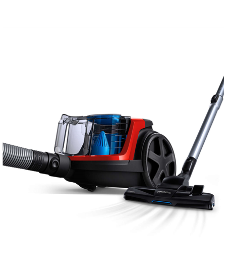 Philips Vacuum cleaner PowerPro Compact FC9330/09 Warranty 24 month(s), Bagless, Red, 650 W, 1.5 L, AAA, E, C, A, 76 dB,
