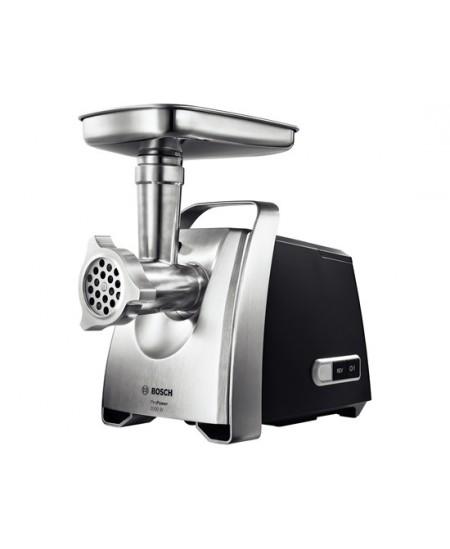 Bosch Meat mincer MFW68660 Black, Throughput (kg/min) 4.3, Kebbe, Sausage horn, Fruit press, Shredding Attachment, 4 barrels, 80