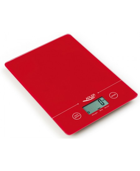 Adler Kitchen scales AD 3138 Maximum weight (capacity) 5 kg, Graduation 1 g, Red