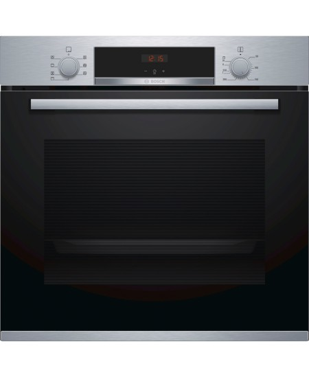Bosch Oven HBA533BS0S Built-in, 71 L, Stainless steel, Eco Clean, A, Push pull buttons, Height 60 cm, Width 60 cm, Integrated ti