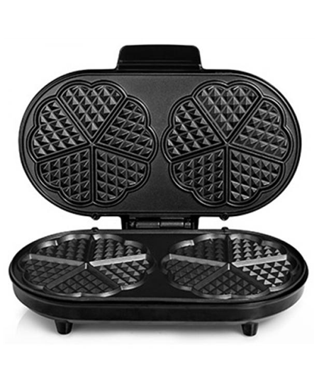 Waffle maker Tristar WF-2120 Black/Stainless steel, 1200 W, Heart shape, Number of waffles 10