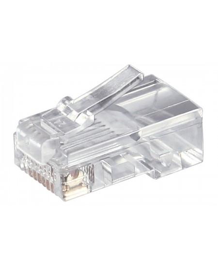 Goobay 58627 RJ45 modular plug for round cable, 8 pol.