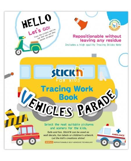 """Veiklos knyga STICK´N """"Transporto priemonių paradas"""""""