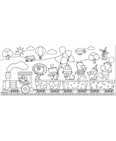 """Lipnus spalvinimo ritinys STICK´N """"Linksmasis traukinys"""", 31cm x 35m"""