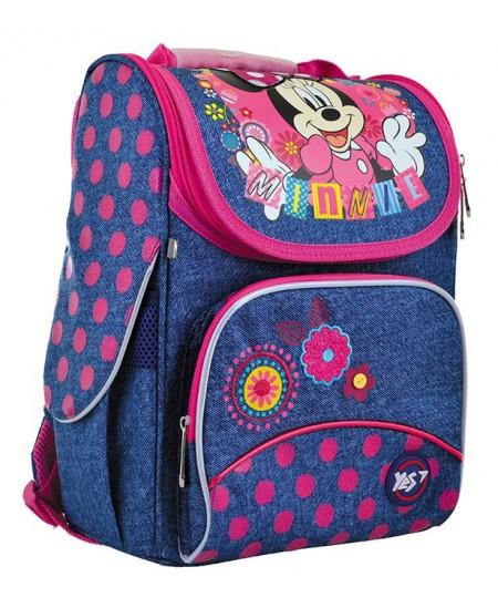 Kuprinė YES H-11 Minnie Mouse, forminė, 33,5 x 26 x 13,5 cm, mėlyna sp.