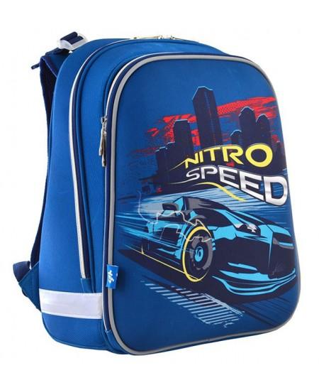 Kuprinė YES H-12 Nitro speed, forminė, 38 x 29 x 15 cm, mėlyna sp.