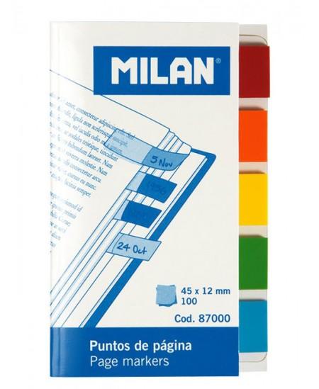 Lipnūs indeksai MILAN, 12x45 mm, 100 vnt.