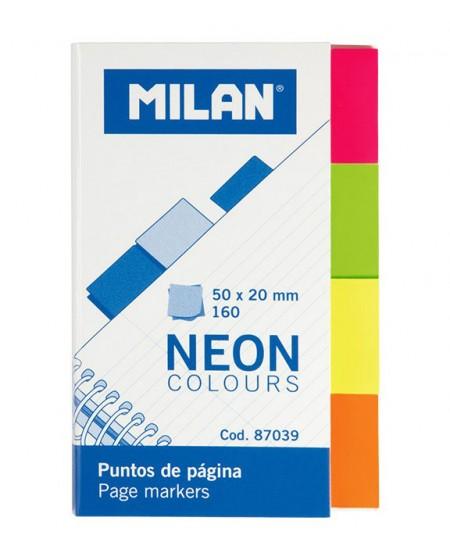 Lipnūs indeksai MILAN, 20x50 mm, 160 vnt.