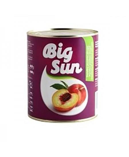Konservuotos persikų puselės BIG SUN, 822 g / 480 g