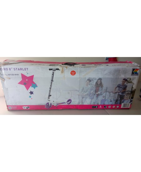 SALE OUT. Kettler Scooter KETTLER ZERO 8 STARLET white/pink ,DAMAGED PACKAGING SKO Scooter, 8 ""