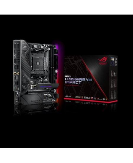 Asus ROG CROSSHAIR VIII Impact Processor family AMD, Processor socket AM4, DDR4, Memory slots 4, Number of SATA connectors 4 x S