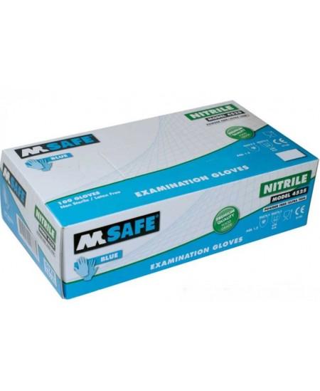 Vienkartinės nitrilinės pirštinės M - SAFE, L dydis, 100 vnt.