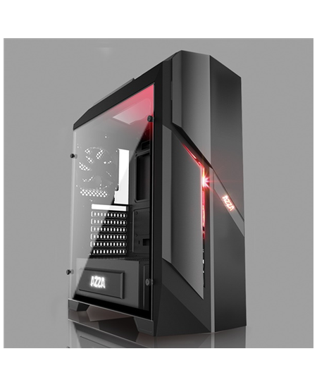 AZZA Photios 250 X, Tempered Glass Side window, USB 3.0 x2, USB 2.0 x2, Mic x1,Spk x1, Black, ATX, Power supply included No
