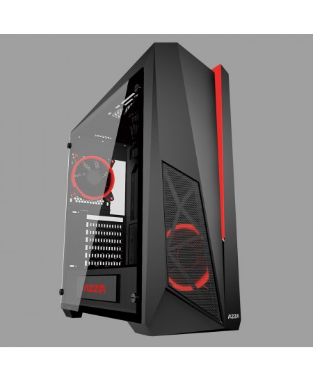 AZZA Thor 320 with RGB fans and Remote control Side window, Black, ATX, Power supply included No