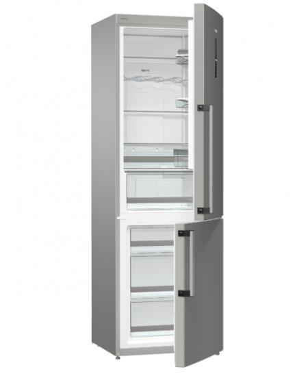Gorenje Refrigerator NRK6192TXI A++, Free standing, Combi, Height 185 cm, No Frost system, Fridge net capacity 222 L, Freezer ne
