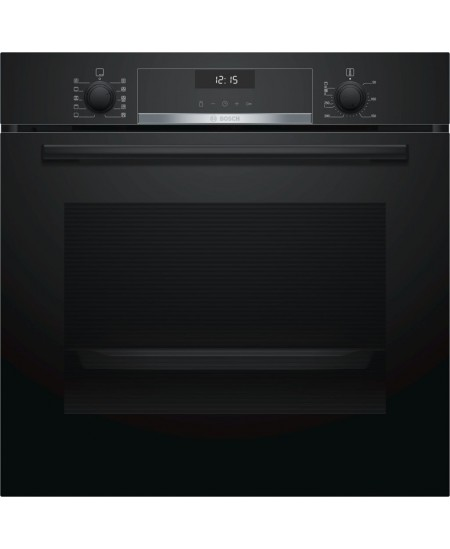 Bosch Oven HBA537BB0S Built-in, 71 L, Black, Eco Clean, A, Push pull buttons, Height 60 cm, Width 60 cm, Integrated timer, Elect