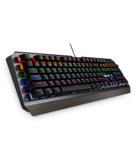 Aula Mechanical Assault Wired Keyboard, EN/RU, Black,