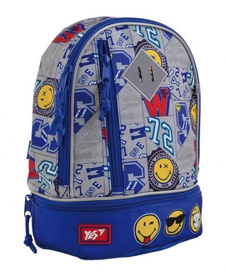 Kuprinė YES K-21 Smiley World, vaikiška,  27 x 21,5 x 11,5 cm, mėlyna sp.