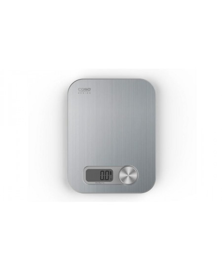 Caso Design kitchen scale Maximum weight (capacity) 5 kg, Graduation 1 g, Display type Digital, Stainless Steel