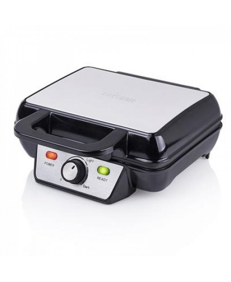 Tristar Waffle maker WF-2195 Belgium, Number of waffles 2, 1000 W, Stainless steel