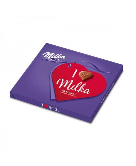 Saldainiai MILKA Pieninio šokolado skonio su migdolų įdaru (38%) 110g