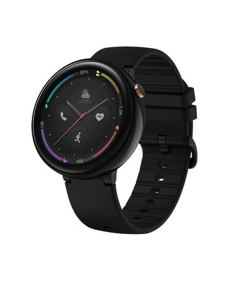 Amazfit Nexo Smart watch, GPS (satellite), AMOLED, Touchscreen, Heart rate monitor, Activity monitoring 24/7, Waterproof, Blueto