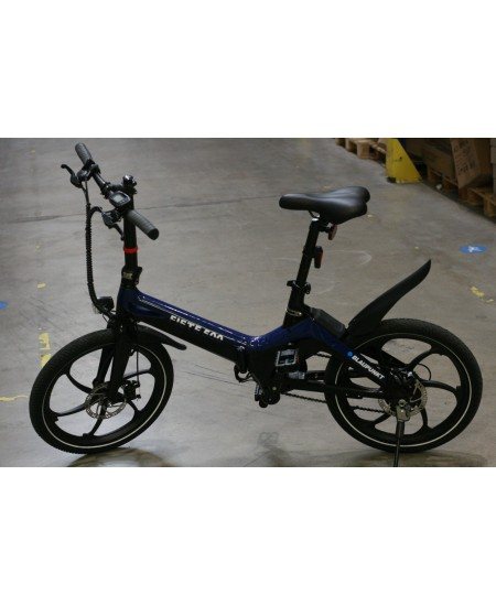 "SALE OUT. Blaupunkt Fiete 500 E-Bike, 20"", Blue/Black, USED AS DEMO, SCRATCHED LCD SCREEN AND REAR FENDER Blaupunkt Fiete 500,"
