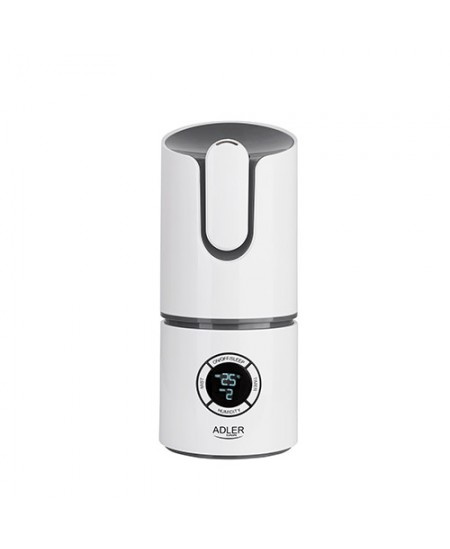 Adler Ionic Air humidifier AD 7957 Humidification capacity 280 ml/hr, White/ grey, 25 W, Water tank capacity 2.2 L