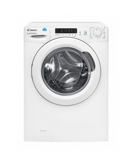 Candy Washing Machine CS34 1262D3-S Front loading, Washing capacity 6 kg, 1200 RPM, A+++, Depth 34 cm, Width 60 cm, White, LED,