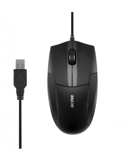Acme MS14 wired, Standard Mouse, Black