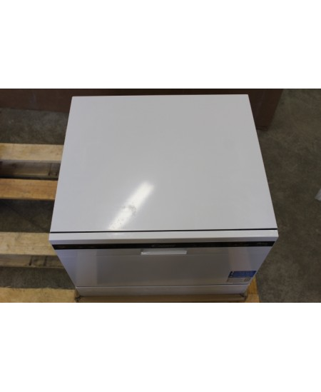 SALE OUT. Candy Dishwasher CDCP 6/E Table, Width 55 cm, Number of place settings 6, Number of programs 6, A+, White, DENT ON TOP