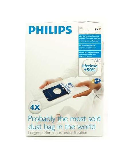 Philips disposable dust bag FC8021/03 Dust Bag 4pcs, • AirStar: FC8220 - FC8229• City-Line: FC8400 - FC8439, HR8368 - HR8378
