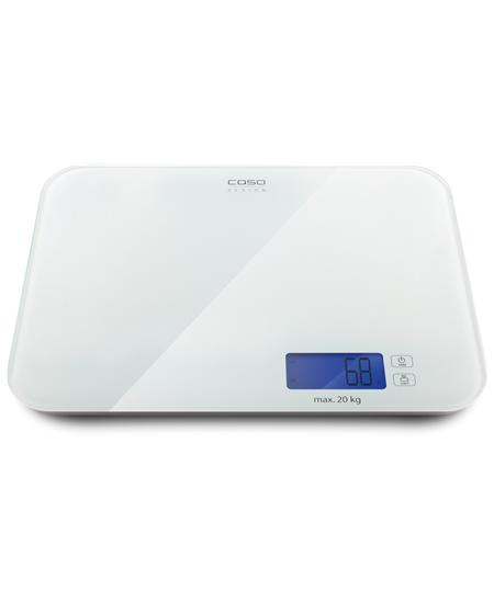 Caso Kitchen Scale L20 Maximum weight (capacity) 20 kg, White glass