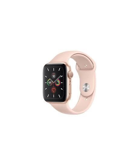 Apple Watch Series 5 GPS, 44mm Gold Aluminium Case with Pink Sand Sport Band - S/M & M/L