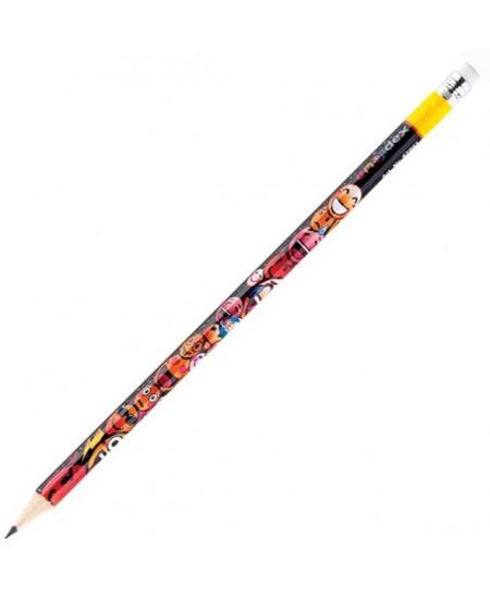 Pieštukas CENTRUM EMOJIDEX su trintuku, padrožtas, HB
