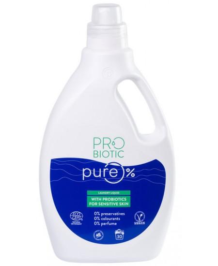 Skalbimo skystis su probiotikais PROBIOTIC PURE, 30 skalbimų, 1500 ml