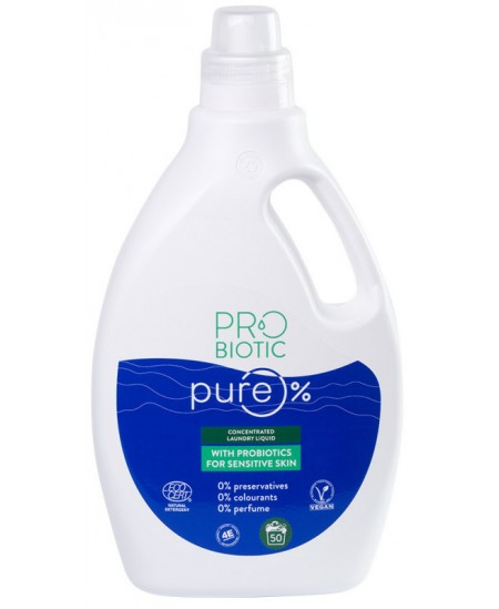 Koncentruotas skalbimo skystis su probiotikais PROBIOTIC PURE, 50 skalbimų, 1500 ml