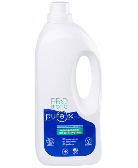 Koncentruotas audinių minkštiklis su probiotikais PROBIOTIC PURE, 50 skalbimų, 1500 ml