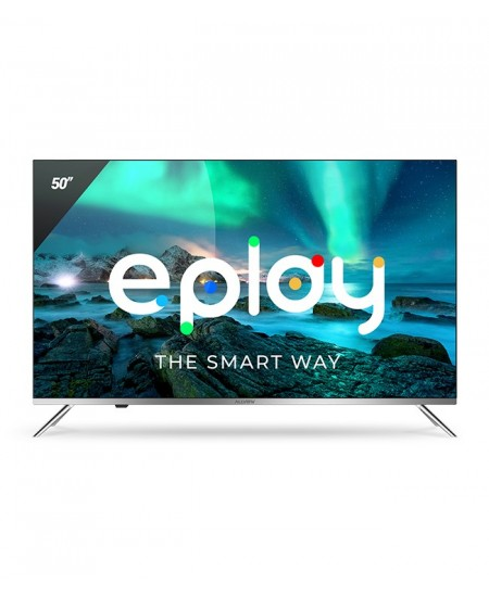 "Allview Smart TV 50ePlay6100-U 50"", Android 9.0 TV, 4K UHD, 3840 x 2160 pixels, Wi-Fi, DVB-T/T2/C, Silver/Black"