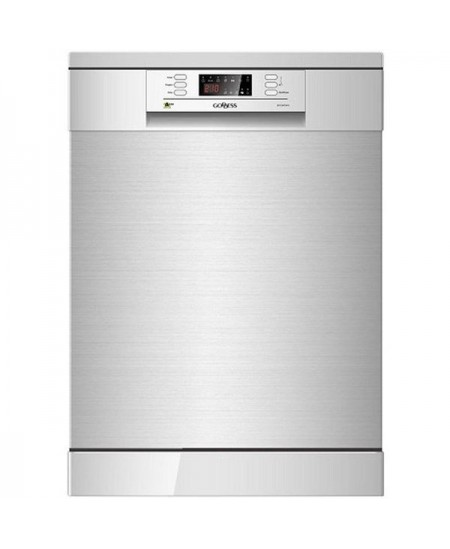 Goddess Dishwasher DFE1267DX10 Free standing, Width 60 cm, Number of place settings 12, Number of programs 6, A +++, Display, Aq