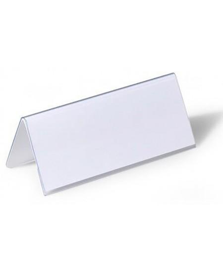 Pastatomos vardinės stalo kortelės DURABLE, 61/122 x 150 mm