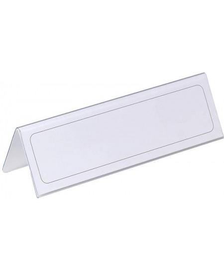 Pastatomos vardinės stalo kortelės DURABLE, 61/122 x 210 mm, 1 vnt