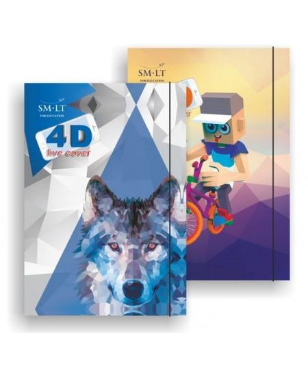 Mokyklinis aplankas su gumele ir papildytos realybės (4D) dizainu