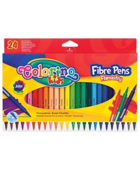 Flomasteriai COLORINO, 24 spalvos, 2mm