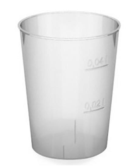 Vienkartinės stiklinės, skaidrios, degustacinės, 20/40 ml, 50 vnt.